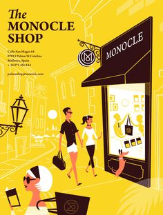 Dont know whats more exciting.. The illustration or the shop in Mallorca, Spain.