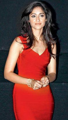 Ileana D'Cruz in a hot Red bandage dress #Bollywood #Fashion #Style #Beauty