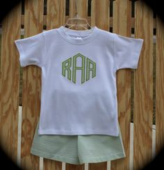 Personalized and Customized Boy's Appliqued by KinleasKloset, $32.50
