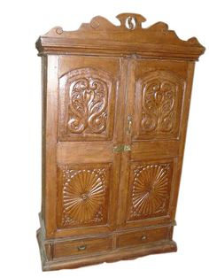 Colonial India Antique Armoire Cabinet Teak available for sale Antique Armoire, Antique Cabinets, Antique Doors, Wood Cabinets, Reclaimed Wood Furniture, Teak Wood, Rustic Wood, Eclectic Furniture, Indian Furniture