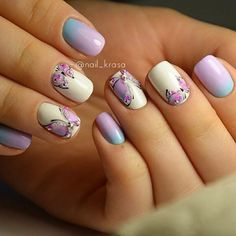 Top 30 Trending Nail Art Designs And Ideas - Nail Polish Addicted Butterfly Nail Designs, Butterfly Nail Art, Simple Nail Art Designs, Easy Nail Art, Simple Butterfly, Fancy Nails, Cute Nails, Pretty Nails, Manicure E Pedicure