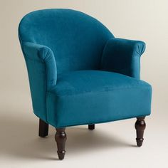 WorldMarket.com: Peacock Blue Lorna Chair