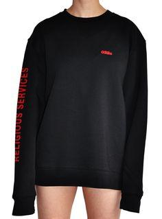 "032c ""Religious Services"" Sweatshirt Black - 032c"