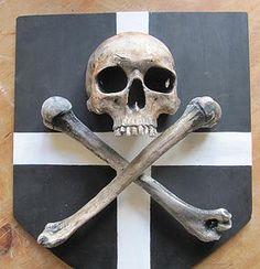 Hand made Pirate Shield from Catacomb Emporium http://bugwriter.wix.com/catacombemporium