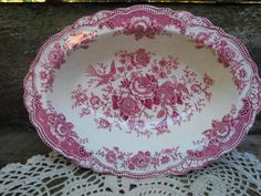 Crown Ducal Bristol Bowl 10 x 7  Red by CottonCreekCottage on Etsy, $28.00