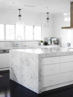 Arbeitsplatte Marmor grau weiß