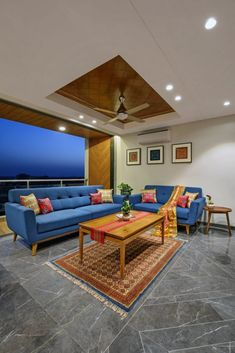 Indian Home Interior, Interior And Exterior, Wooden Ceiling Design, Back Painted Glass, Architectural House Plans, Indian Living Rooms, Brown Doors, Living Room Decor, Living Spaces