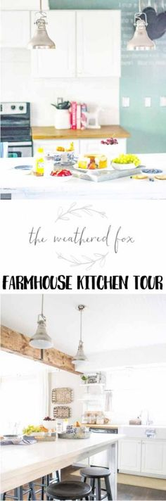 What a gorgeous little kitchen! Love this farmhouse kitchen from The Weathered Fox