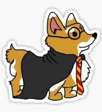 Corgi Potter Sticker