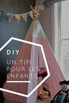 Make a tipi for kids in eight steps Baby Couture, Couture Sewing, Sewing Projects For Beginners, Diy Projects, Diy Tipi, Diys, Diy Bebe, Teepee Kids, Diy For Kids