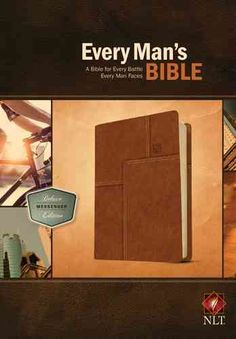 Every Man's Bible: New Living Translation, Deluxe Messenger Edition, Leather