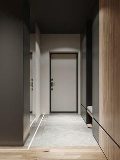 Vander Park on Behance Corridor Design, Foyer Design, Home Room Design, House Design, Interior Design Images, Apartment Interior Design, Interior Decorating, Apartment Entrance, House Entrance