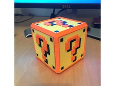 Super Mario Bros Question Mark Block by AliG3D - Thingiverse