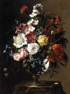 Vase of Flower Oil on canvas, 62 x 46 cm Private collection ARELLANO, Juan de