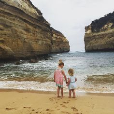 Sisters   #newyear #2016 #sister #beautiful #girls #bigsister looking after #littlesister #lochardgorge #greatoceanroad #sand and #beach #victoria what a beautiful country we live in #grateful by sheburnedtoobright