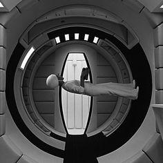 Walking in spaceship in nongravity