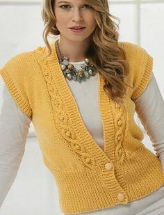Ravelry: Waistcoat 8520 pattern by Stylecraft Yarns Knitting Wool, Sweater Knitting Patterns, Knitting Designs, Knit Patterns, Half Sweater, Diy Clothes, Clothes For Women, Knit Vest Pattern, Knitted Coat