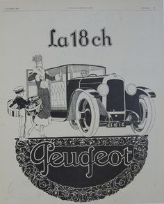 La 18 CH Peugeot 1925 Original Print – Rue Marcellin Original Vintage Posters & Prints @Rue Mapp Mapp Marcellin ruemarcellin.com