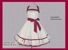 Petticoatkleid Brautkleid Angi bordeaux von Schneiderei Heike Borchers auf DaWanda.com