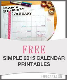 Start your 2015 Planning with our Free Printable 2015 Calendar