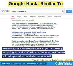Google - Google Hack: Similar To