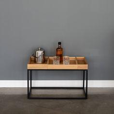 Couchtisch - Couchtisch Holz - Beistelltisch Holz - Beistelltisch von MBK12Berlin auf Etsy Stool, Table, Etsy Shop, Furniture, Home Decor, Oak Tree, Decoration Home, Room Decor, Tables