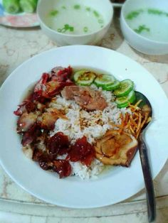 "Chinese food, called ""Nasi Campur"""