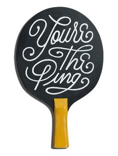 The Art of Ping Pong – Bat designed by The A Board Dude