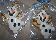 Mia's Olaf cookies my mom ordered