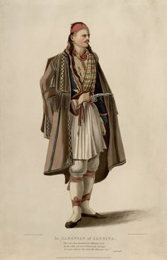 An Albanian of Janina Folk Costume, Costumes, Albanian People, Albanian Culture, Ottoman Turks, Western Outfits, Traditional Dresses, Draco, Fashion Outfits
