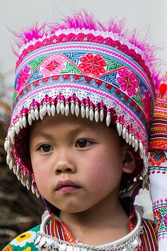 Lovely child of the RED HEAD MIAO tribe