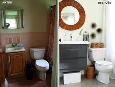 Antes y después: un cambio de look radical en el cuarto de baño