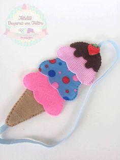 Marcador de página sorvete com molde