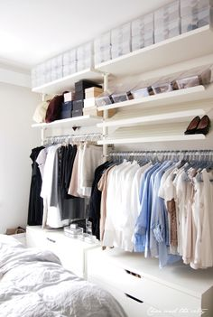 Ikea Stolmen wardrobe storage system - combination of drawers, shelves and sliding cupboards