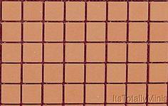 Dollhouse Miniature Brick Patio Sheet, Mesh Mounted #HW8202