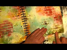 HOW TO MAKE A MIXED MEDIA PAGE WITH A WHITEWASH BACKGROUND