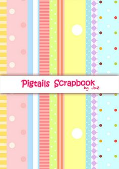 Free printables : Pigtails scrapbook background paper by thepigtails.wordpress.com