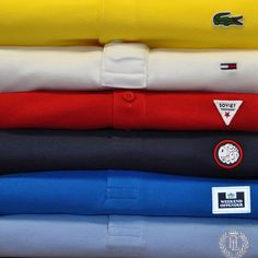 Check out our branded polos in store and at usc.co.uk  #lacoste #tommyhilfiger #soviet #prettygreen #weekendoffender #henrilloyd #polo #yellow #white #red #navy #cobalt #blue #usc #mensfashion #menswear #mens