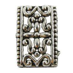 Small Antique Silver Ornate 3-Strand Spacer Bars #hobbylobby