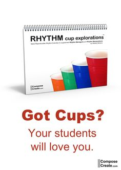 Cup rhythm games for music class and piano lessons! http://www.composecreate.com/store/rhythm-cup-explorations/