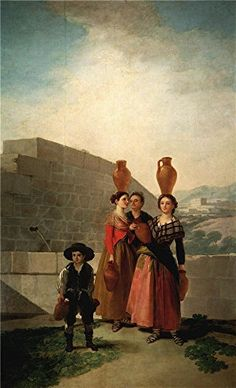 Oil Painting Goya Y Lucientes Francisco De Young Women With Pitchers 1791 92  Printing On High Quality Polyster Canvas  8 X 13 Inch  20 X 33 Cm the Best Bathroom Gallery Art And Home Gallery Art And Gifts Is This Best Price Art Decorative Prints On Canvas