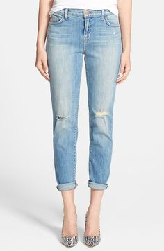 J Brand 'Jake' Skinny Boyfriend Jeans (Landslide) available at #Nordstrom $134