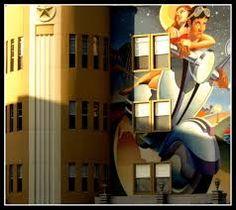 art deco τοιχογραφία
