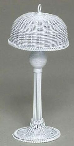 Woven Standing Lamp | Mary's Dollhouse Miniatures