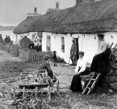 Old Photograph Cottages West Coast Of Scotland