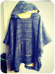 Surf Style Poncho. Perfect for the nighttime chill.