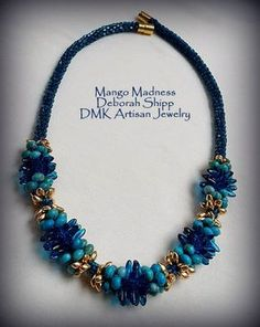 """TUTORIAL ONLY - """"Mango Madness"""" Kumihimo Necklace by DMKArtisanJewelry on Etsy Toho Hex Seed Beads and Czech Daggers"""