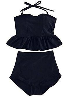 Swimsuit Viva Rose 2pcs High Waisted Stripe Figure-shaping Women's Swimwear