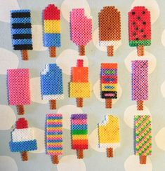 Perler Bead Designs, Hama Beads Design, Perler Bead Art, Perler Beads, Melty Bead Patterns, Beading Patterns, Diy For Kids, Crafts For Kids, Arts And Crafts