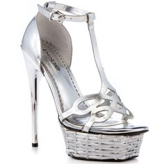 Bebe Shoes Francis - Silver Metallic ($130) ❤ liked on Polyvore